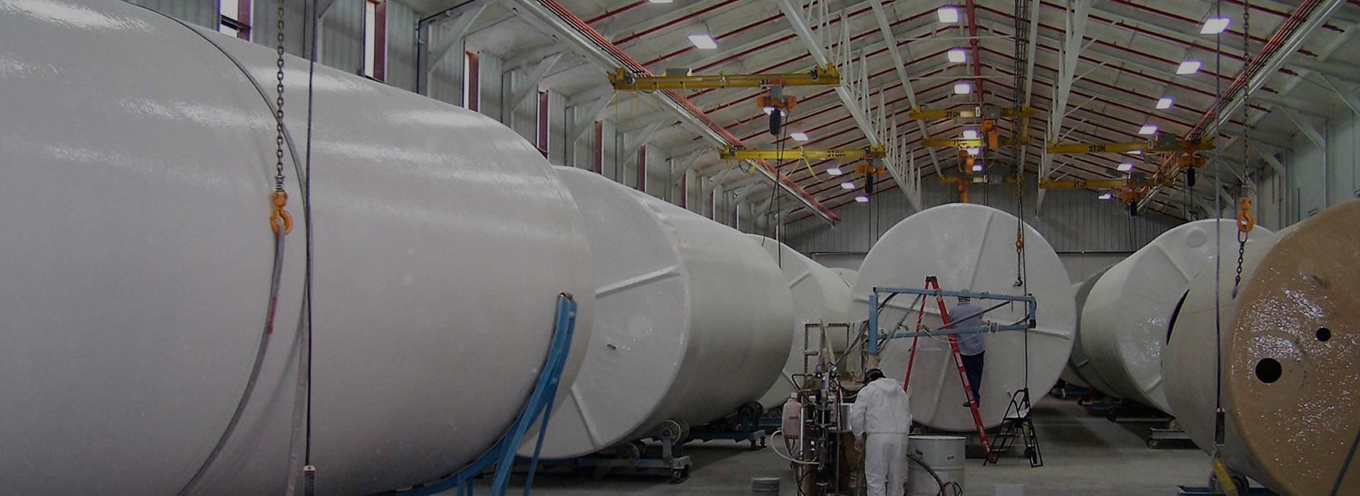 Specially Engineered Polyethylene Industrial Tanks with Bund